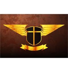 Vintage gold emblem vector