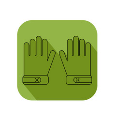 Working gloves flat objects isolated on a white vector