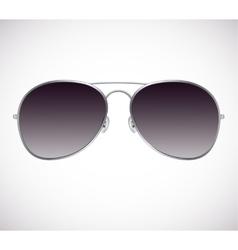 Aviator sunglasses background vector image vector image