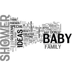 baby shower ideas which of these golden tips do vector image vector image
