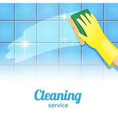 Cleaning background white vector image
