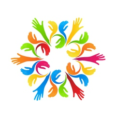 Group of Hands vector image