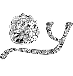 letter Y decorated in the style of mehndi vector image vector image