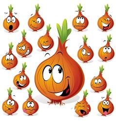 onion cartoon vector image vector image