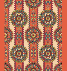 oriental floral seamless pattern geometric vector image vector image