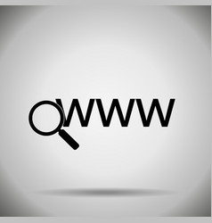search in web icon vector image vector image