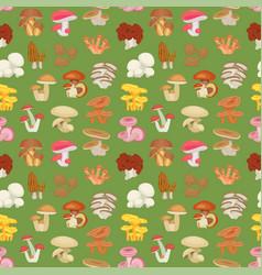 edible mushroom seamless pattern vector image