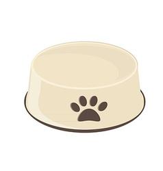 Empty dog bowl vector image vector image