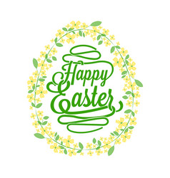 happy easter greetings card calligraphic lettering vector image