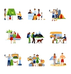 Images Set Of Vacation Options vector image vector image