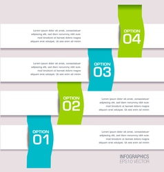 Modern Colorful Infographic vector image vector image