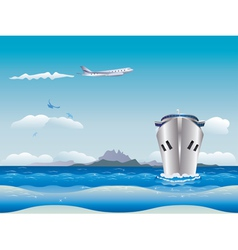 Airplane and Ship2 vector image vector image