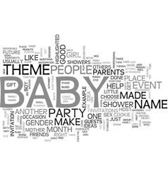 baby shower idea text word cloud concept vector image vector image