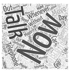 cell phone car charger Word Cloud Concept vector image