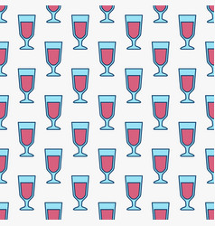 colorful red wine glasses pattern vector image vector image