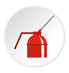 Fire extinguisher icon circle vector