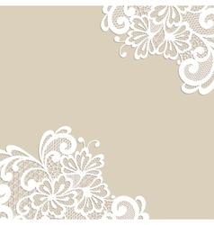 Flower ornament corner vector image vector image