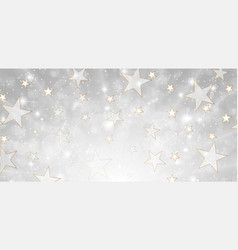 grey and gold deluxe background with stars and vector image vector image