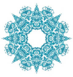 ornamental round set vector image