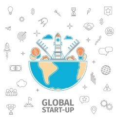 global startup concept vector image