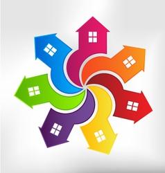 Houses Logo design element vector image