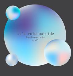 liquid colors glowing circles decorative design vector image vector image