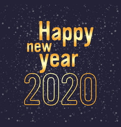 2020 happy new year merry christmas holiday vector image
