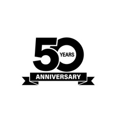 50 years anniversary banner on isolated white vector image