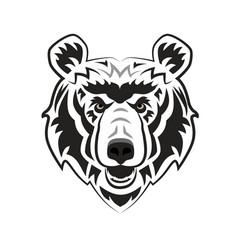 Angry bear mascot for esport and gaming logo vector
