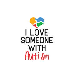 Autism quote lettering typography vector