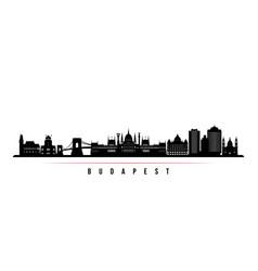 Budapest skyline horizontal banner vector