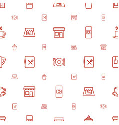 Cafe icons pattern seamless white background vector