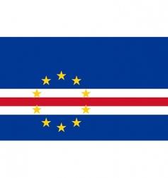 cape verde flag vector image