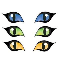 cats eye vector image vector image