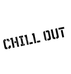 Chill Out rubber stamp vector image