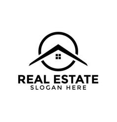 circle real estate logo icon design template vector image