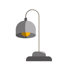 Colorful graphic of desk lamp without contour and vector