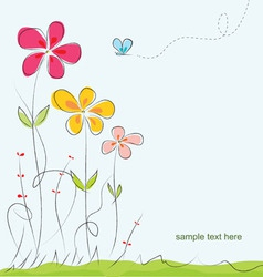 colorful summer floral background vector image