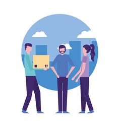 community people activity vector image