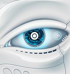 Eye of the robot vector image