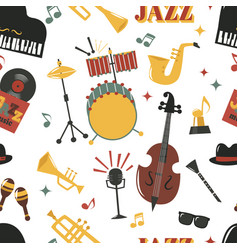 Fashion jazz band music party musical instrument vector