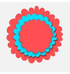 Flower banner paper cut vector