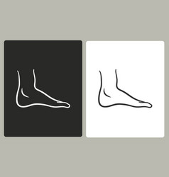 Foot - icon vector