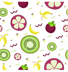Fruity pattern on a colored background vector