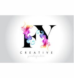 Fy vibrant creative leter logo design with vector