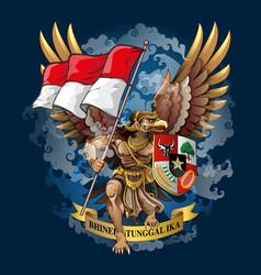 Garuda or eagle spirit vector