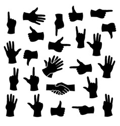 hands in different positions vector image