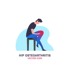 hip osteoarthritis icon vector image