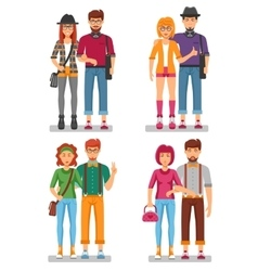 Hipster Couples Concept vector