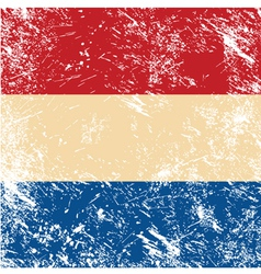 Holland retro flag vector